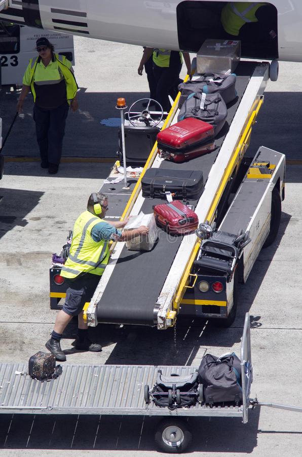 Auckland Airport - New Zealand. AUCKLNAD - DEC 31:Air transport luggage in Auckland International Airport on Dec 31 2013.Unaccompanied luggage led to downing of royalty free stock photo