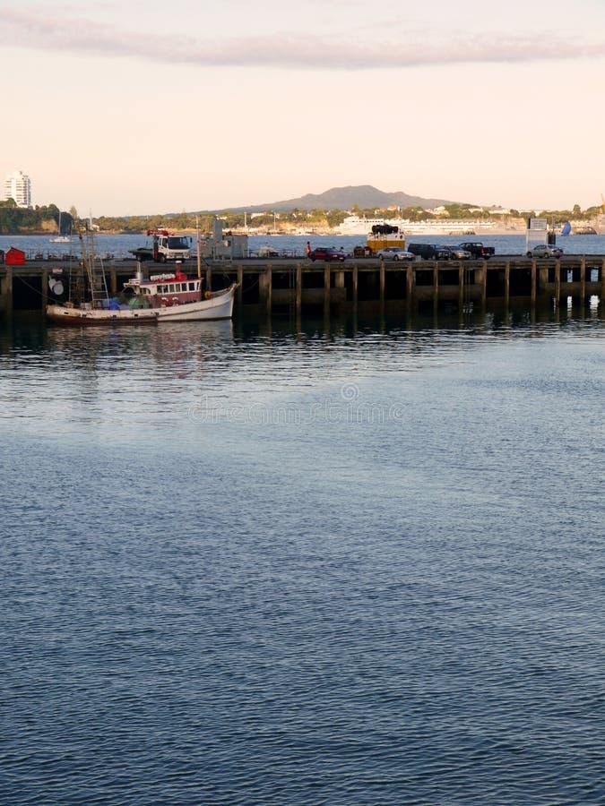 Auckland: Cais da bacia do viaduto fotografia de stock royalty free