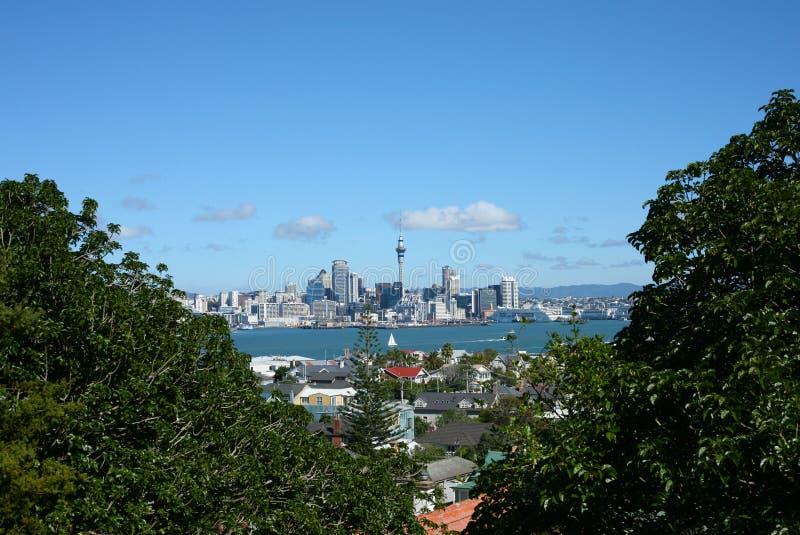 Auckland CBD de Devonport fotos de stock royalty free