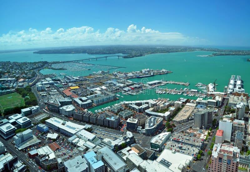 Auckland - cidade das velas panorama, Nova Zelândia fotos de stock royalty free