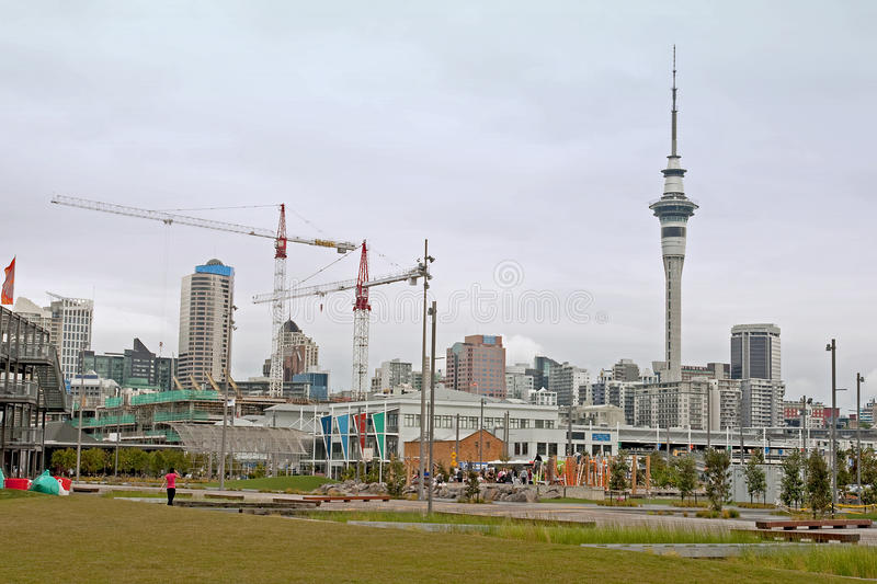 Auckland City Centre overlooking the Tower Skay stock photos