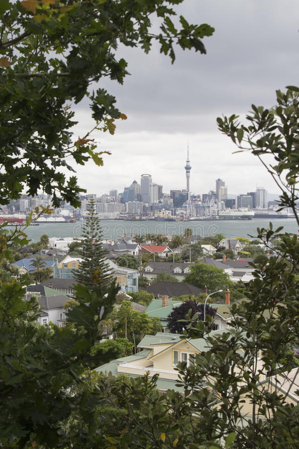 Auckland city and harbour, view from Devonport royalty free stock photos
