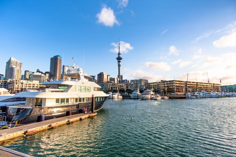 Biggest city in New Zealand North Island. New Zealand financial district and business office buildings. Auckland City New Zealand. Biggest city in New Zealand stock image