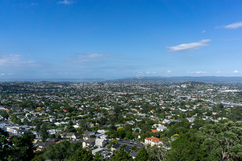 Auckland city view. From mount wellington in new zealand stock images