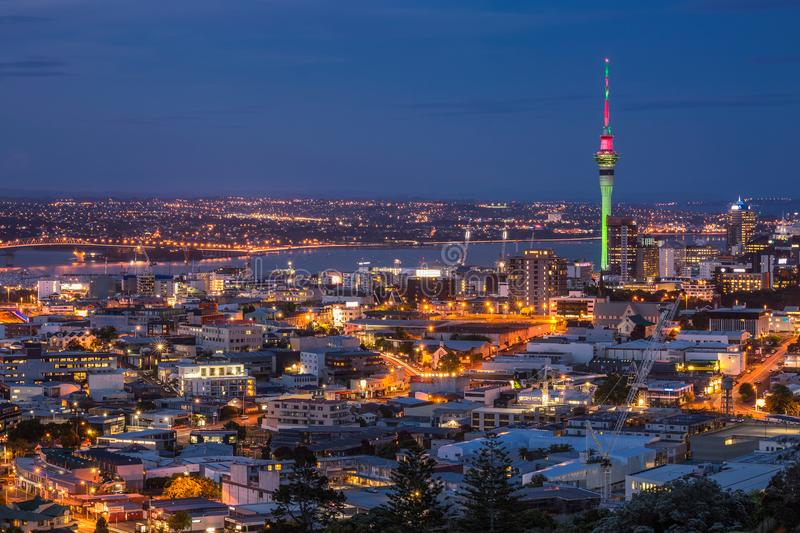 Auckland city view stock photography