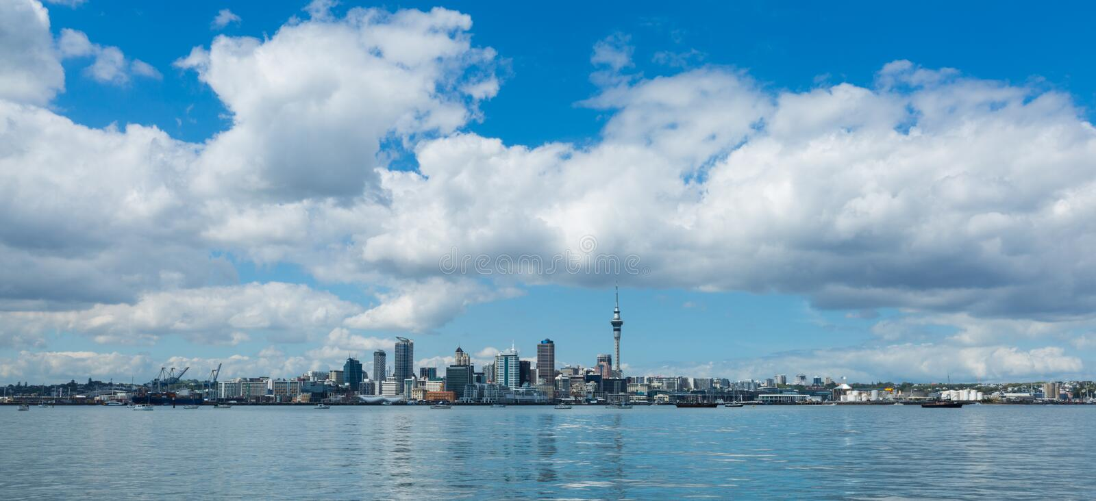 Auckland cityscape, North Island, New Zealand stock image