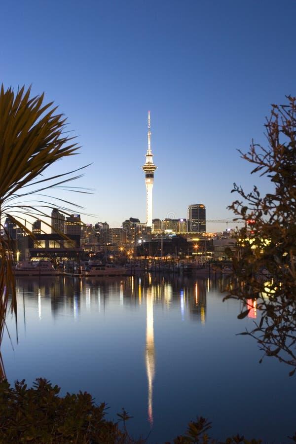 Auckland-Dämmerung lizenzfreie stockfotos