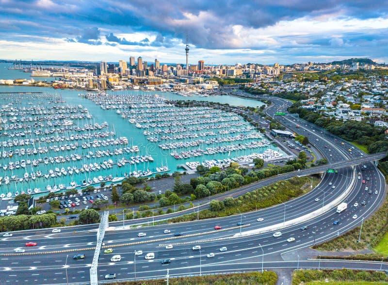 Auckland desde arriba fotos de archivo libres de regalías