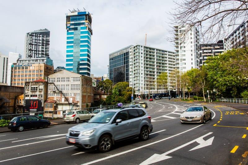 Auckland do centro - rua do Queens fotos de stock