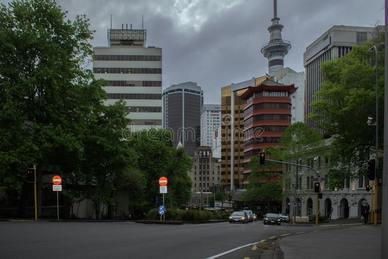 Auckland du centre photos stock