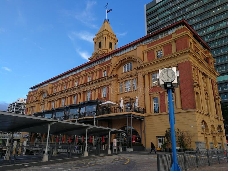 Auckland färjaterminal royaltyfria bilder