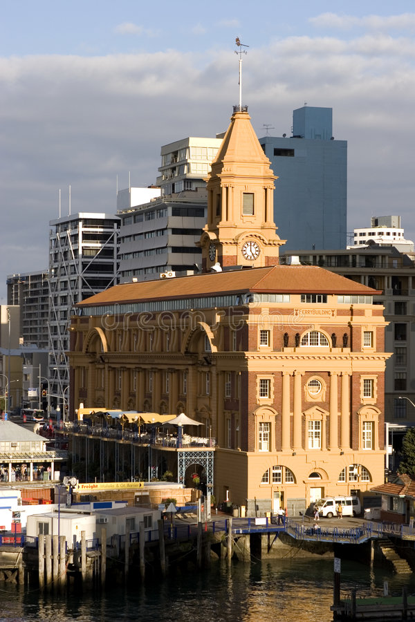Auckland Ferry Building royalty free stock photos