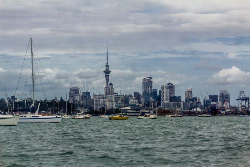Auckland, Auckland galerii sztuki Toi o TÄ  mak, miasto, miasto żagiel obrazy royalty free
