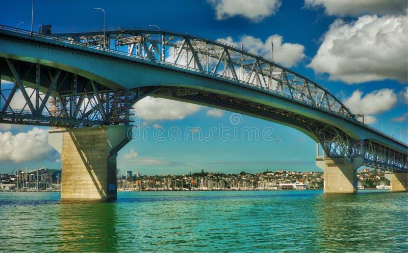 Auckland hamnbro, Nya Zeeland royaltyfria foton