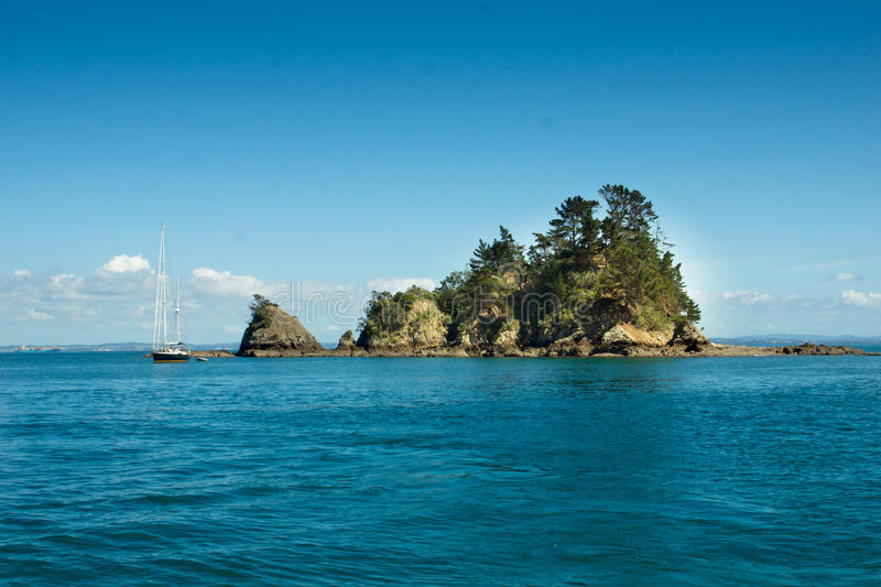 Auckland Harbour - Three Sisters stock images