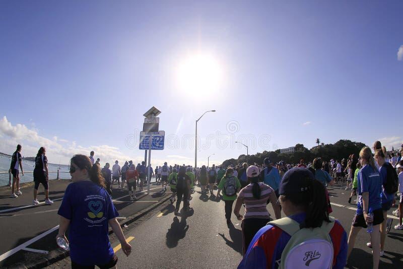 Auckland intorno alla maratona delle baie fotografia stock