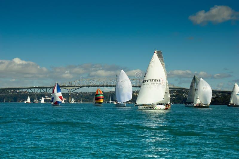 Auckland - la ciudad de velas fotografía de archivo libre de regalías