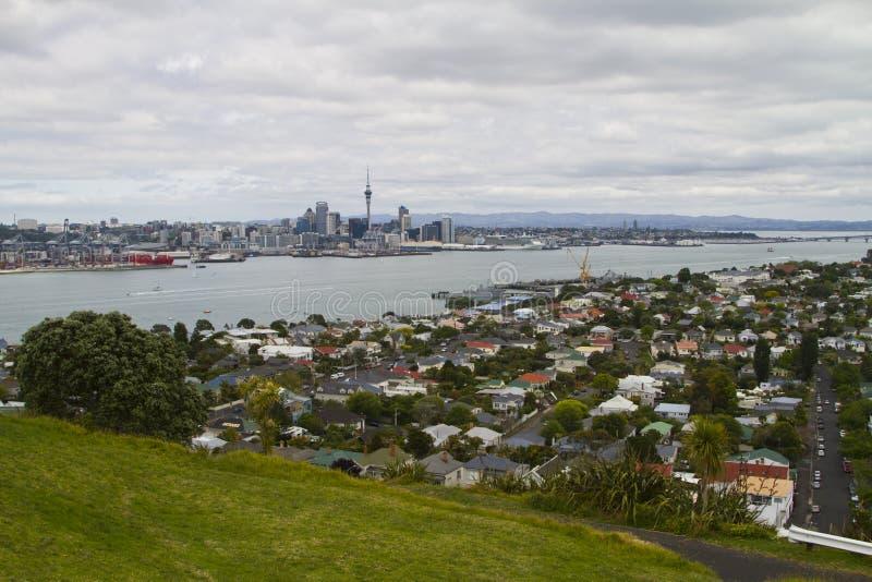 Auckland linia horyzontu fotografia royalty free