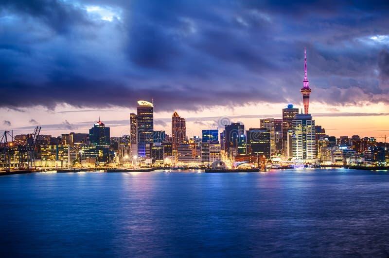 Auckland linia horyzontu obrazy stock
