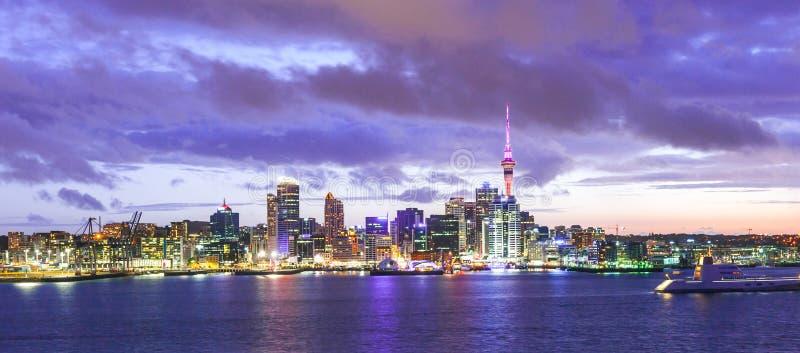 Auckland linia horyzontu zdjęcie royalty free