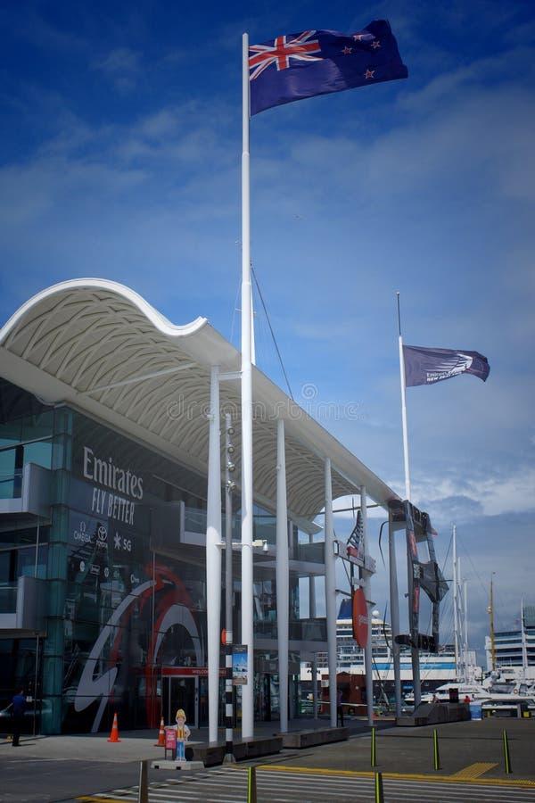 Auckland New Zealand - 02 December 2019; Emirates Team New Zealand America`s Cup holder headquarter stock image