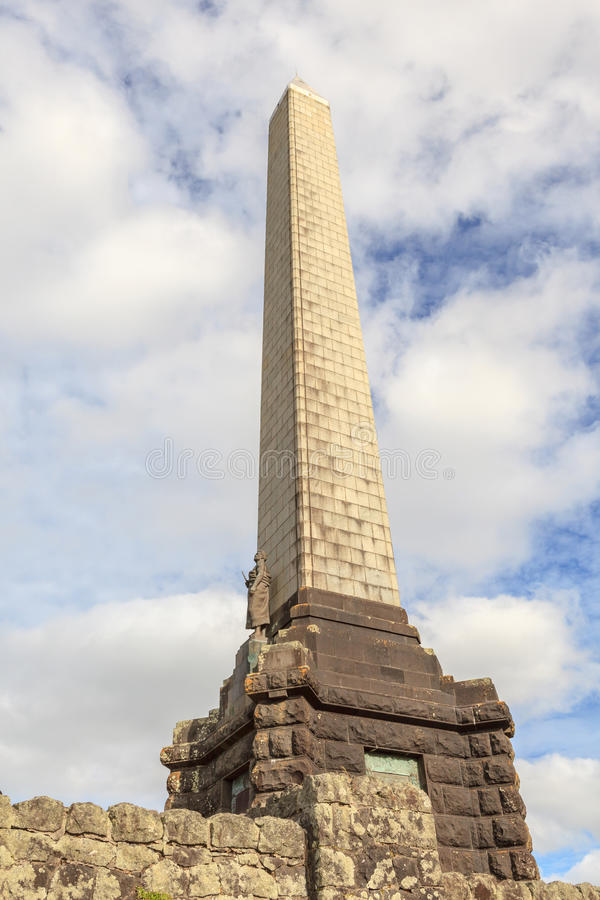 Auckland, New Zealand- December 1, 2013. Obelisk memorial of Sir royalty free stock images
