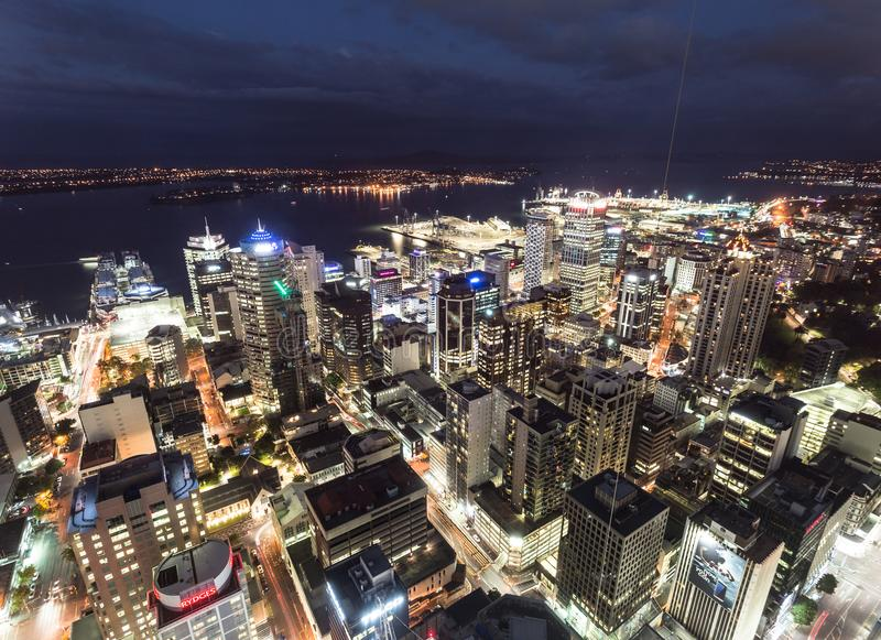The nights of Auckland royalty free stock photography