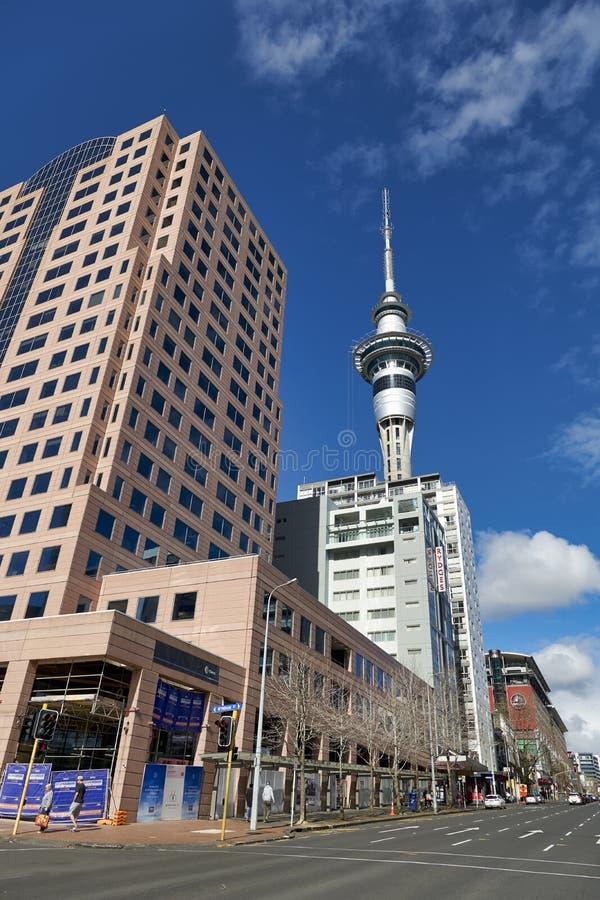 Auckland New Zealand. The Sky Tower stock photos