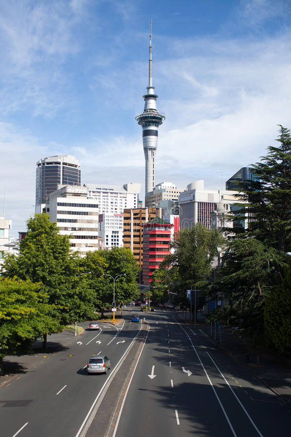Auckland New Zealand. A view of downtown Auckland, New Zealand stock photos