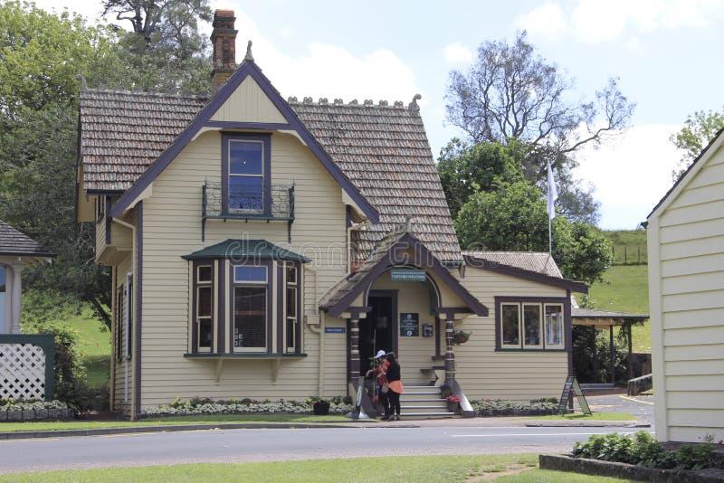 Auckland, Nieuw Zeeland - Januari 01, 2015: Cornwall Park, Informatiecentrum royalty-vrije stock foto's