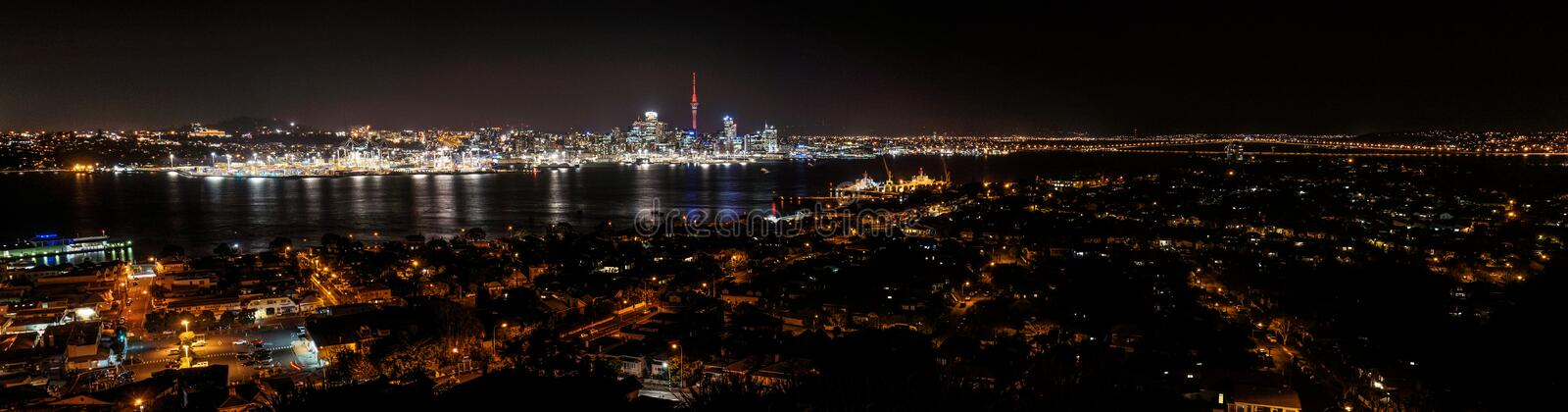 Auckland Nightscape photos stock