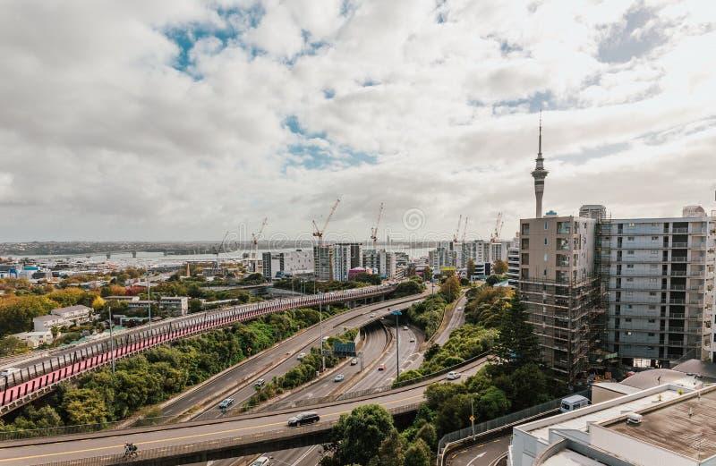 Auckland, Nouvelle-Zélande au jour photographie stock
