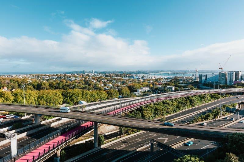 Auckland, Nouvelle-Zélande au jour photographie stock libre de droits