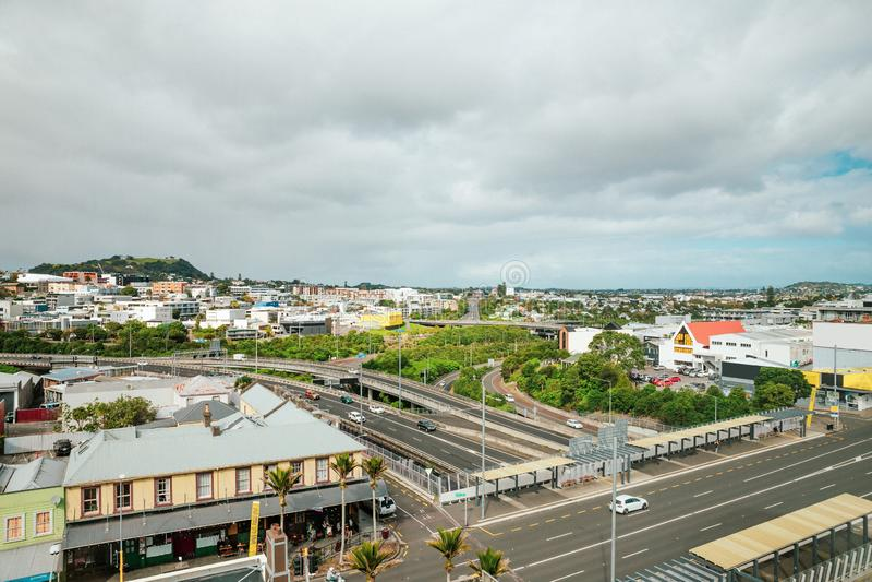 Auckland, Nouvelle-Zélande au jour photos stock