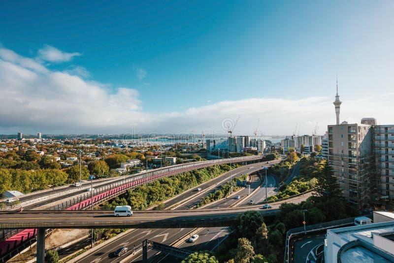 Auckland, Nouvelle-Zélande au jour images libres de droits