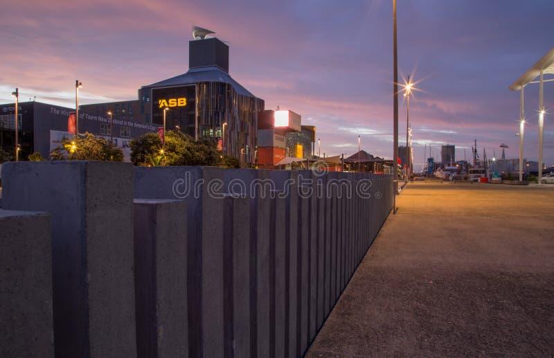 Auckland, Nouvelle-Zélande, novembre, 26, 2014 ; Les sièges sociaux modernes de la banque d'ASB dans le quart de Wynyard, Aucklan image stock