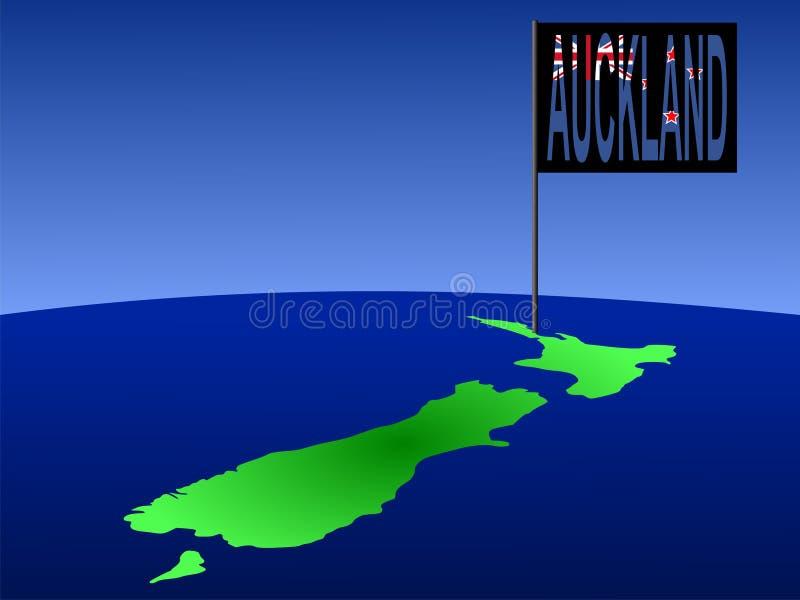 Auckland Nova Zelândia ilustração do vetor
