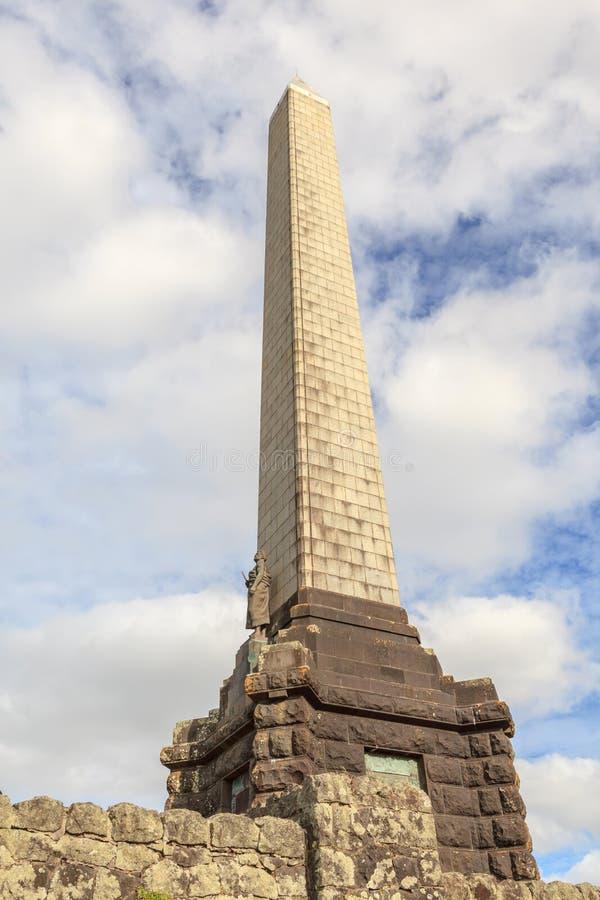 Auckland, Nowy Zealand Grudzień 1, 2013 Obelisku pomnik Sir obrazy royalty free