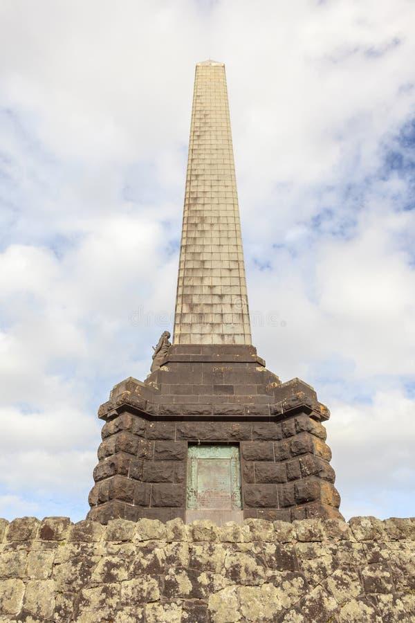 Auckland, Nowy Zealand Grudzień 1, 2013 Obelisku pomnik Sir zdjęcie royalty free
