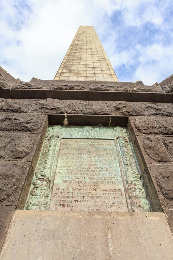 Auckland, Nowy Zealand Grudzień 1, 2013 Obelisku pomnik Sir zdjęcia stock