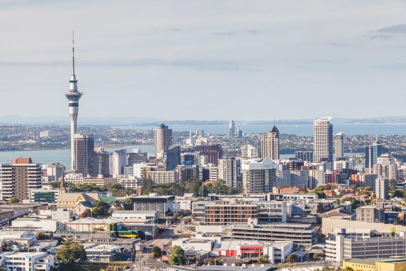 Auckland, nuevo Selandia 12 de diciembre de 2013 Paisaje urbano de Auckland imágenes de archivo libres de regalías