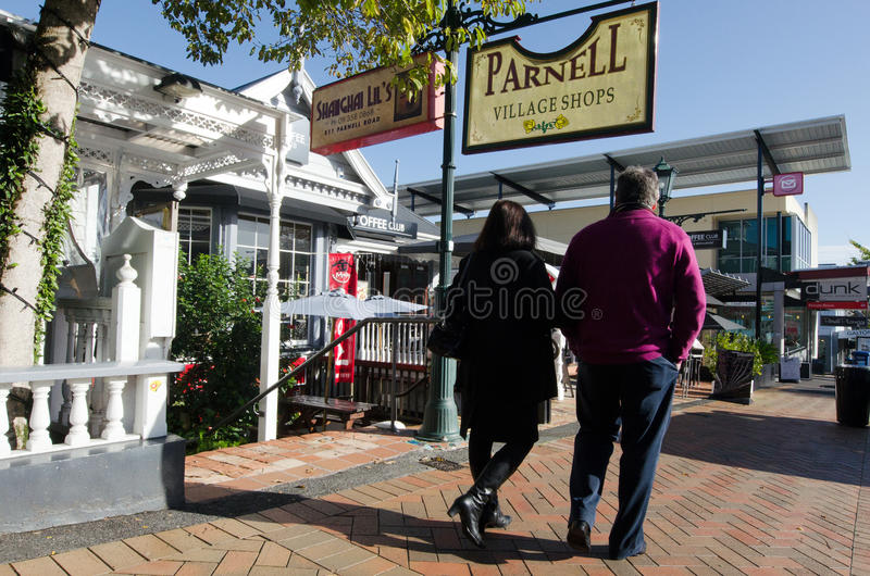 Auckland - Parnell Road. AUCKLAND, NZ - MAY 29:Visitors in Parnell Road on May 29 2013.Parnell is Aucklands oldest suburb famed for its boutique style stores