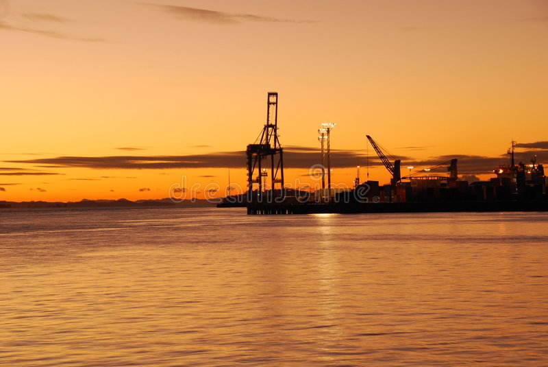 auckland port royaltyfria foton