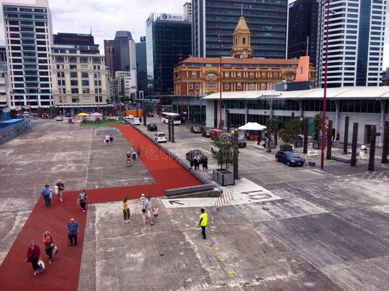 Auckland promu Terminal - Nowa Zelandia zdjęcie royalty free