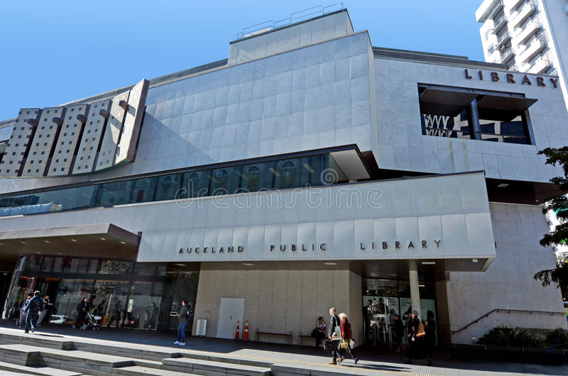 Auckland Public Library - New Zealand. AUCKLAND - AUG 11 2015:Central City Library in Auckland CBD. Auckland public library system is the largest public library stock photo