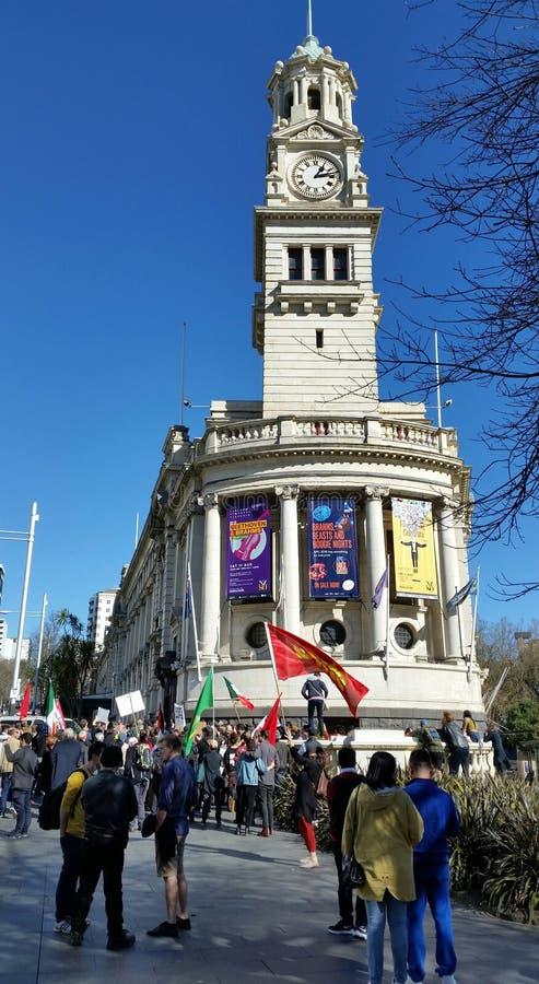 Auckland rasizmu wiec lub protest obraz royalty free