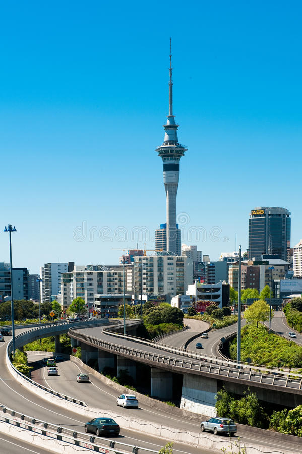Auckland Sky Tower royalty free stock images