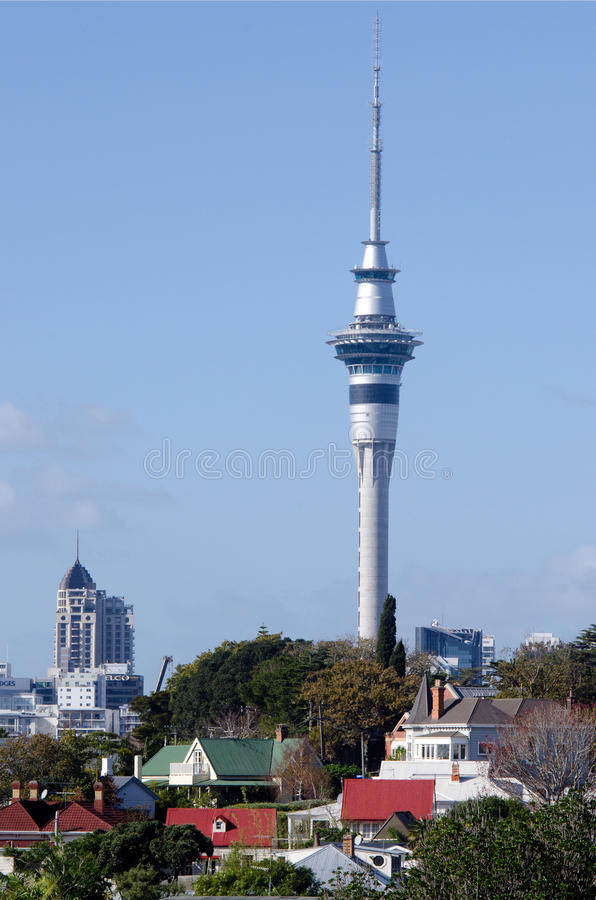 Auckland Sky Tower stock photography
