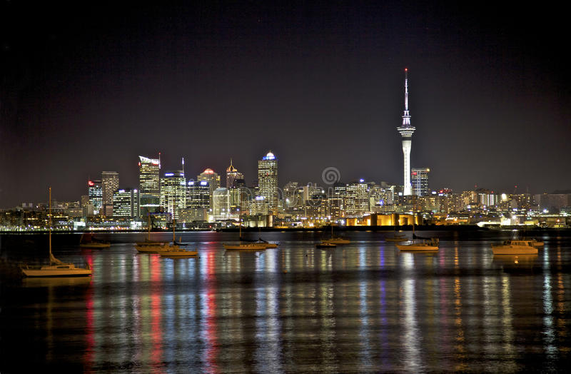 Download Auckland Skyline stock photo. Image of pacific, mooring - 15615730