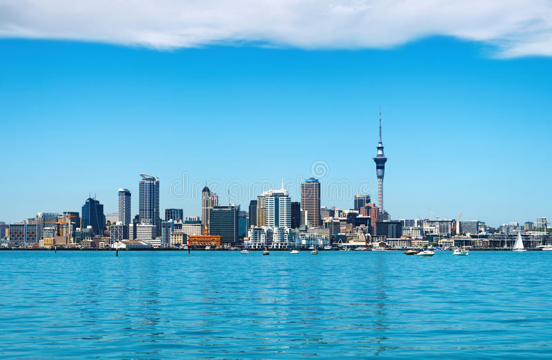 auckland stad New Zealand royaltyfri foto
